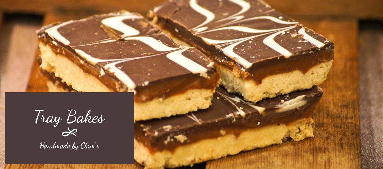 Caramel Shortbread, Chocolate Brownies, Cranberry Flapjack