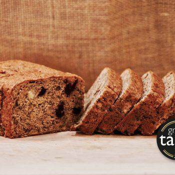 Great Taste award winning banana and cranberry loaf cake